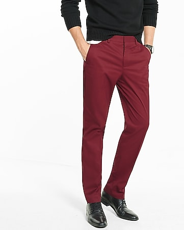 modern producer stretch cotton dress pant