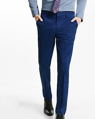 Express Mens Skinny Innovator Navy Dress Pant