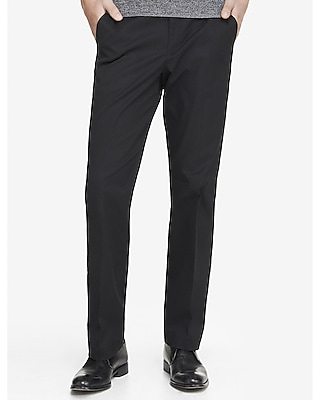 Relaxed Stretch Cotton Black Dress Pant