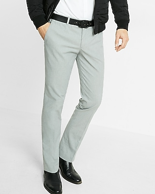 Express Mens Extra Slim Heather Gray Dress Pant