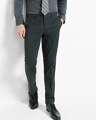 Express Mens Extra Slim Charcoal Dress Pant
