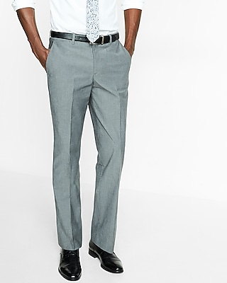 Express Mens Classic Chambray Stretch Cotton Dress Pant