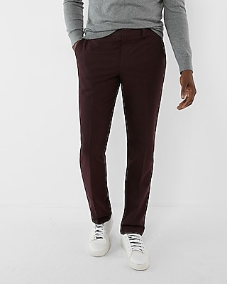 Express Mens Classic Burgundy Dress Pant