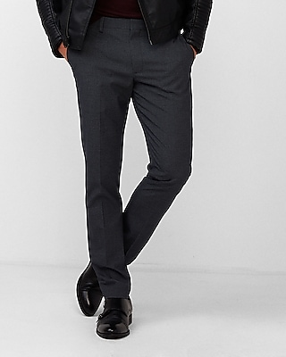 Extra Slim Navy Houndstooth Dress Pant