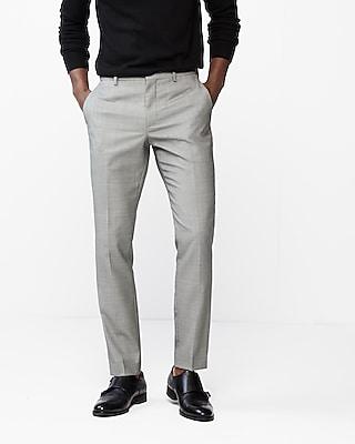 Extra Slim Birdseye Wool-Blend Dress Pant