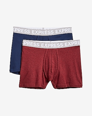 2-pack Solid Cotton Sport Trunks