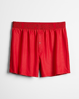 Express Mens Red Camo Print Performance Boxers