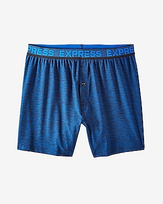 Express Mens Moisture-Wicking Performance Knit Boxers Blue X Large 11392309