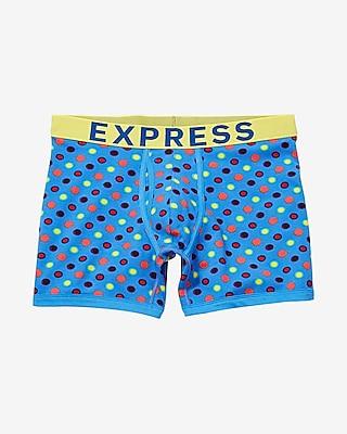 Express Mens Multicolor Dot Boxer Briefs