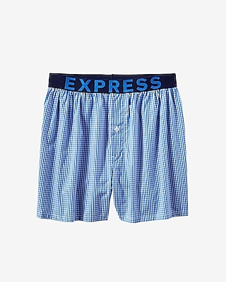 Express Mens Gingham Woven Boxer