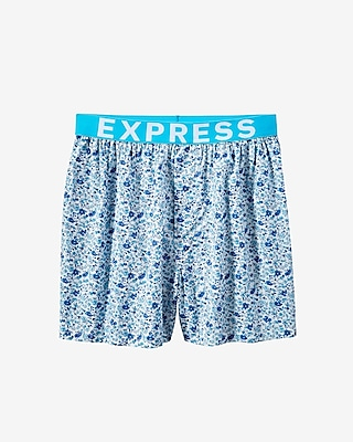 Express Mens Floral Woven Boxer