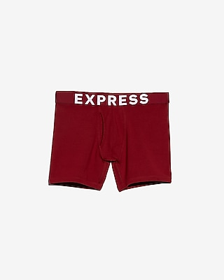 Express Mens Solid Red Boxer Briefs
