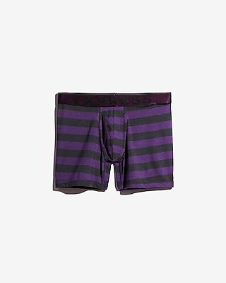Express Mens Purple Rugby Stripe Boxer Briefs