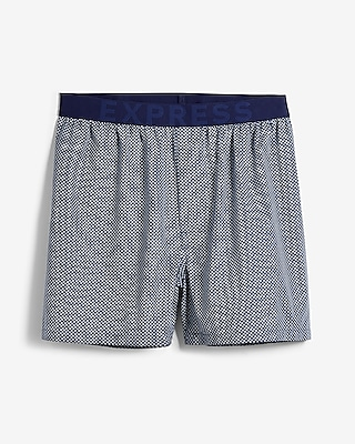 Geometric Print Exposed Waistband Boxers