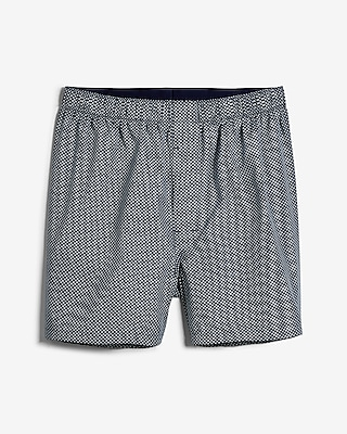 Geometric Print Covered Waistband Boxers