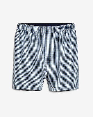Express Mens Gingham Covered Waistband Woven Boxers