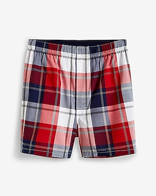 Plaid Covered Waistband Boxers
