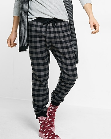 flannel jogger pant