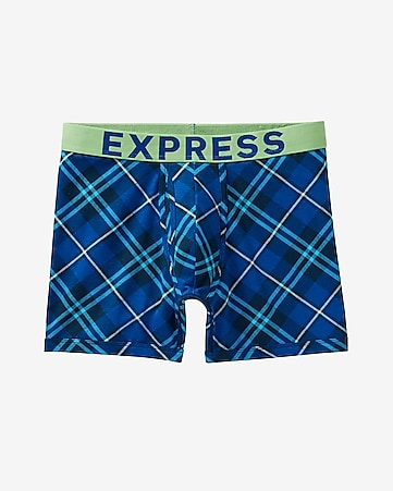 blue plaid boxer briefs