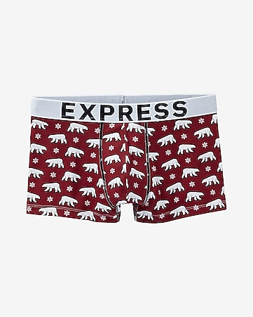 polar bear print sport trunk