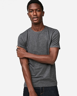 Express Mens Heathered Supersoft Crew Neck Tee