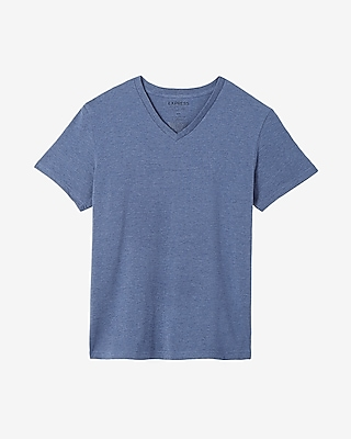 Express Mens Heathered Supersoft V-Neck Tee