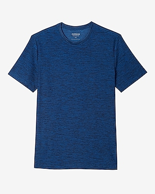 Express Mens Moisture-Wicking Performance Crew Neck Tee Blue Medium 11389453