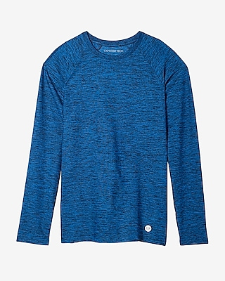 Express Mens Moisture-Wicking Performance Raglan Tee Blue X Small 12042814