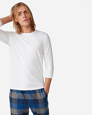 Express Mens Supersoft Long Sleeve Crew Neck Stretch Tee
