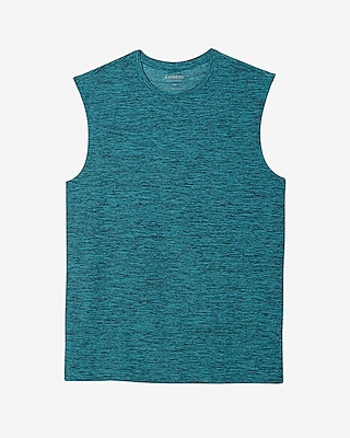 Express Mens Moisture-Wicking Performance Muscle Tank Blue Large