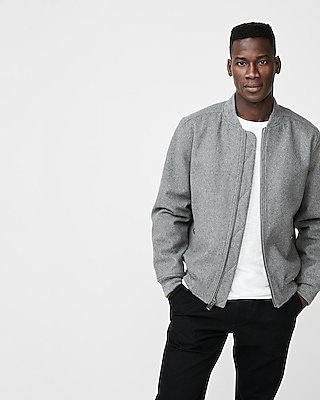 Express Mens Recycled Wool Bomber Jacket