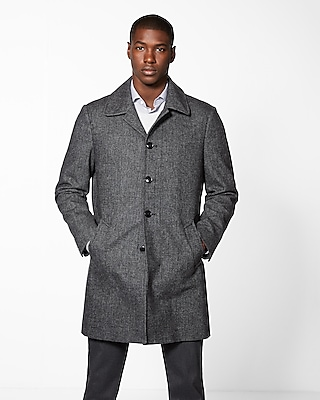 Express Mens Wool Blend Topcoat