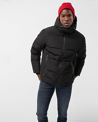 Express Mens Heat Seal Puffer Coat