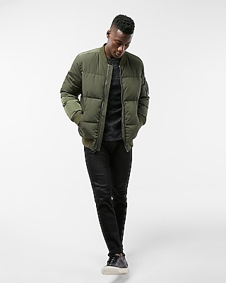 Express Mens Bomber Puffer Coat