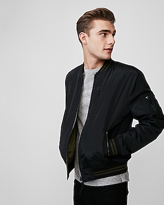 Express Mens Reversible Bomber Jacket