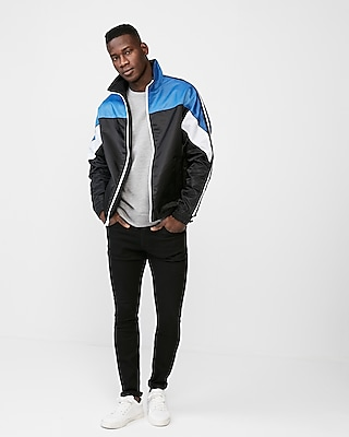 Express Mens Color Block Pieced Windbreaker