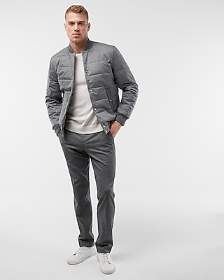 Express Mens Textured Filled Bomber Jacket
