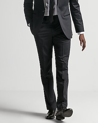 Express Mens Classic Black Cotton Sateen Suit Pant
