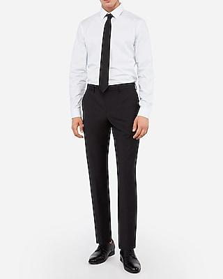 Express Slim Black Wool-Blend Performance Stretch Suit Pants
