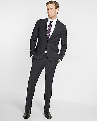 Express Mens Extra Slim Performance Stretch Wool-Blend Suit Jacket