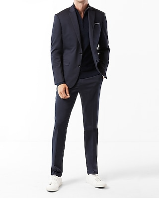 Express Mens Classic Navy Cotton Sateen Suit Jacket