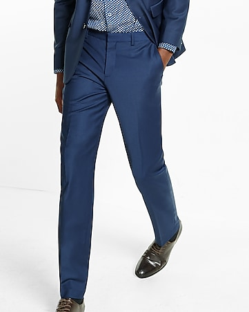 slim photographer navy stretch wool blend suit pant