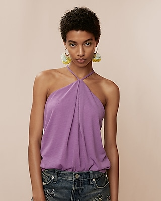 Express Womens Halter Cami Purple XX Small