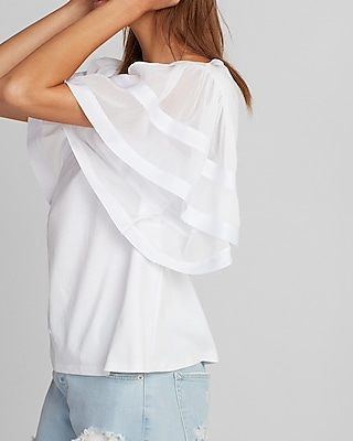 Express Womens Flutter Sleeve Tee