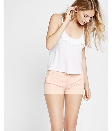 twill trouser shorts