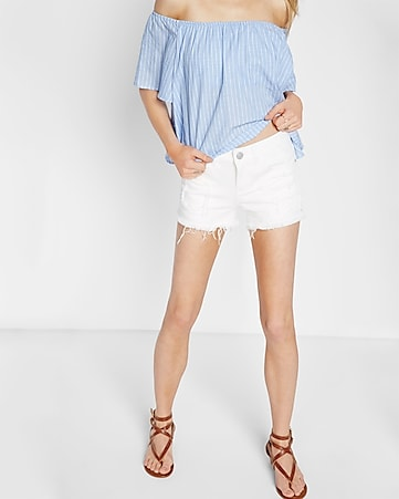raw cut relaxed shorts