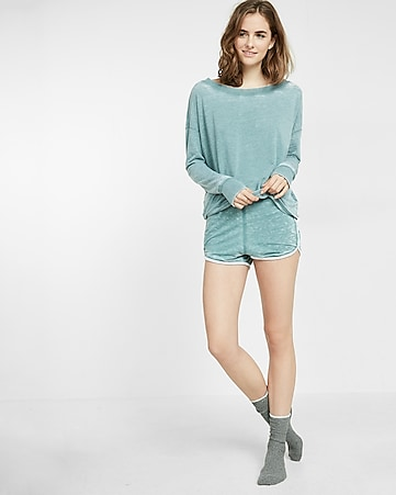express one eleven burnout shorts