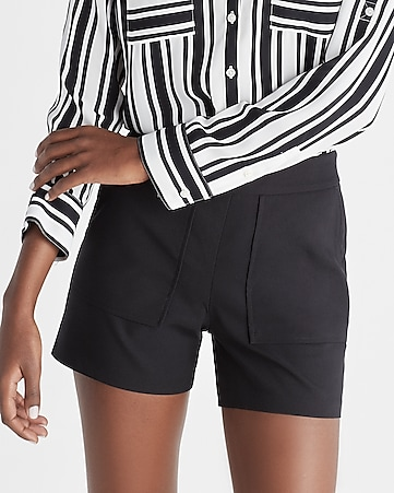 mid rise 4 1/2 inch pocket front shorts