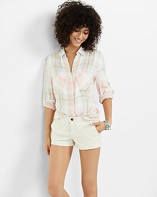 Express Womens Twill Trouser Pocket Shorts