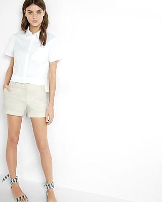 Linen-blend Short